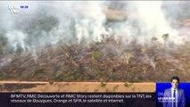 """Pour Jair Bolsonaro, les feux en Amazonie """"sont inférieurs à la moyenne de ces dernières années"""""""
