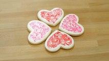 Marble Heart Cookies