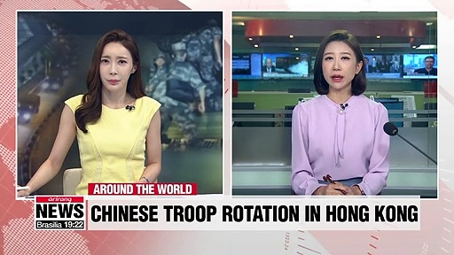 "Chinese state TV has showed what it asserts was ""a routine rotation"" of military troops and equipment into a garrison in Hong Kong. This development is naturally raising concerns in the territory that has been rocked by pro-democracy protests for weeks an"