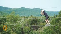 Zip Lining Marble Mountain