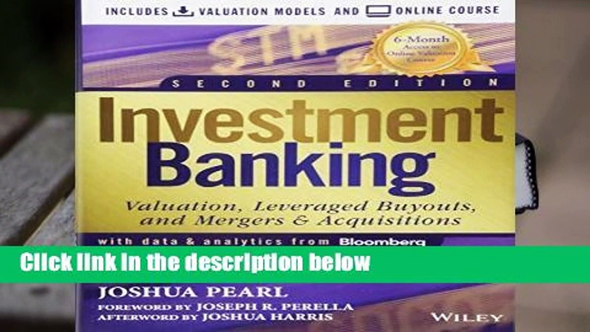 Investment Banking: Valuation Models + Online Course Complete