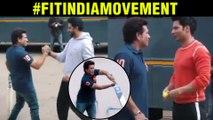 Sachin Tendulkar PLAYING Cricket With Varun Dhawan Abhishek Bachchan   #FitIndiaMovement