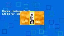 Review  Unstoppable: My Life So Far - Maria Sharapova