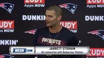Jarrett Stidham Patriots Vs. Giants Preseason Postgame Press Conference