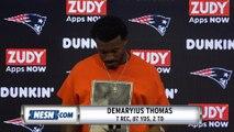 Demaryius Thomas Patriots Vs. Giants Preseason Postgame Press Conference