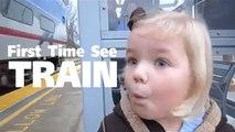 น่ารักขึ้นสุด !! โมเมนต์ชวนยิ้ม เมื่อสาวน้อย เคยเห็นรถไฟครั้งแรกในชีวิต