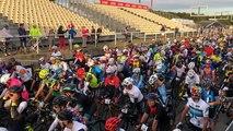 Le départ de la Cyclo Morbihan aux 4 Jours CIC de Plouay