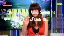 """""""¡A la calle!"""". Anna Simón no quiere hablar: """"¿Frank Blanco ya no te protege?"""""""