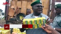 Customs seizes illegally imported truck loads of rice, SUVs