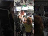 Pilot Lets Little Girl Make Announcement to Address Passengers in Airplane