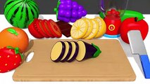 Making Fruits Juice - Learn Colors with Cutting Fruit and Vegetables Nursery Rhymes for Kids