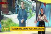 Ferrocarril Central Andino inició su viaje a Huancayo