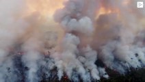 The gigantic fire that devours the Amazon rainforest in Brazil advances without control