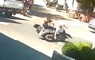Une femme à scooter percute un piéton... deux fois de suite !