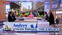 Interrogé sur la violence des Gilets Jaunes, Yvan Le Bolloc'h remet en place les journalistes.