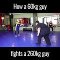 Homme de 60 kg VS homme de 260 kg... Okay!!!!