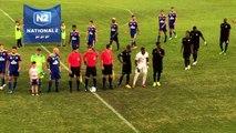 MGFC-FCM : l'entrée des deux équipes sur la pelouse