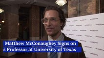 Matthew McConaughey Is Your Professor