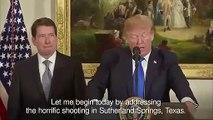 Donald Trump denounces Texas church shooting as act of evil