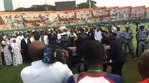Obsèques : arrivée de la dépouille d'Arafat Dj au stade FHB