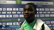 Après Caen - HAC (0-3), réaction de Junior Dina Ebimbe
