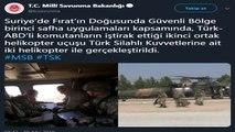 """MSB: """"Suriye'de Fırat'ın Doğusunda Güvenli Bölge birinci safha uygulamaları kapsamında, Türk-ABD'li..."""