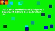 Full E-book  Monster Manual (Dungeons & Dragons, 5th Edition)  Best Sellers Rank : #4