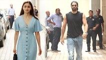 Alia Bhatt & Aditya Roy Kapur spotted Mahesh Bhatt's office for Sadak 2;Watch video | FilmiBeat