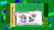 Full E-book  Vocabbusters Cartoon Vocabulary: 200 Essential GRE Words  Best Sellers Rank : #1