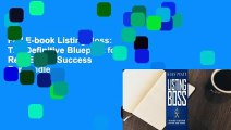 Full E-book Listing Boss: The Definitive Blueprint for Real Estate Success  For Kindle