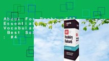 About For Books  500 Essential Words: GRE Vocabulary Flashcards  Best Sellers Rank : #4