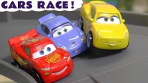 Disney Pixar Cars 3 Racing with Lightning McQueen Jackson Storm and Mater with the Funny Funlings in this Toy Story Full Episode English