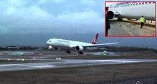 THY uçağı taksi yolundan çıktı, 147 yolcu sorunsuz bir şekilde tahliye edildi
