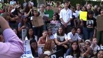 غريتا تونبرغ تشارك في أوّل تظاهرة لها من أجل المناخ في نيويورك