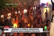 España: decenas de migrantes ilegales ingresan por frontera de Ceuta