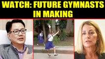 School kids performing gymnastics on road, Video goes viral | Oneindia News