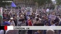 Londres proteste contre la suspension du Parlement