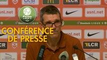 Conférence de presse AS Nancy Lorraine - Rodez Aveyron Football (1-1) : Jean-Louis GARCIA (ASNL) - Laurent PEYRELADE (RAF) - 2019/2020