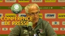 Conférence de presse Valenciennes FC - Clermont Foot (1-0) : Olivier GUEGAN (VAFC) - Pascal GASTIEN (CF63) - 2019/2020