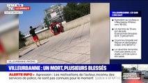 La première image de l'interpellation de l'auteur de l'attaque au couteau à Villeurbanne