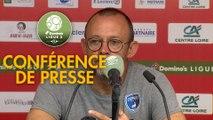 Conférence de presse US Orléans - Chamois Niortais (0-1) : Didier OLLE-NICOLLE (USO) - Pascal PLANCQUE (CNFC) - 2019/2020