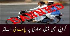 Sindh govt bans pillion riding in Karachi