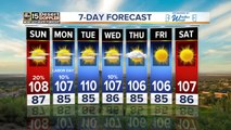 Hot holiday weekend weather around the Valley