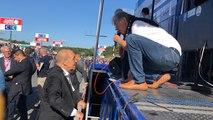 Le ministre des affaires étrangères Jean-Yves Le Drian, présent sur le départ