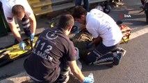 Eyüpsultan'da motosiklet kazası; 2 yaralı