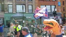 Boston Straight Pride Parade draws large numbers of counter-protesters