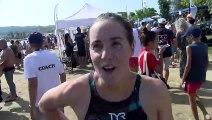 Lara Grangeon après sa victoire à l'EDF Aqua Challenge à Martigues