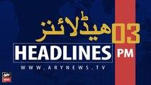 ARYNEWS HEADLINES | PM IMRAN KHAN ADDRESSES ISNA CONVENTION | 3 PM | 1 SEP 2019