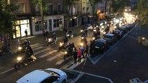 Parade de motards lors du rassemblement de la Licorne