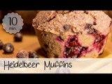 Heidelbeer Muffins Vegan - Gesunde Heidelbeer Bananen Muffins - Vegane Muffins | Vegane Rezepte